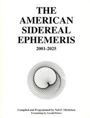 N.N. - The American Sidereal Ephemeris 2001-2025